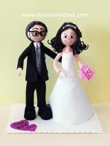 Isabel y Gonzalo regalaron esta figura a un familiar.