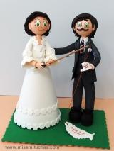 Isabel y Fraggio el día que se casaron en los años 80.