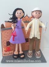 Maitane y Raúl de viaje de novios por la muralla China.