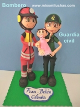 fofucha bombero y guardia civil
